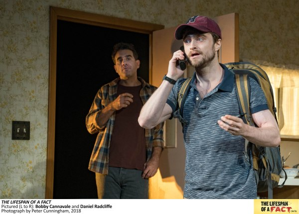 7013b The Lifespan of a Fact, Pictured L to R, Bobby Cannavale and Daniel Radcliffe, Photograph by Peter Cunningham, 2018