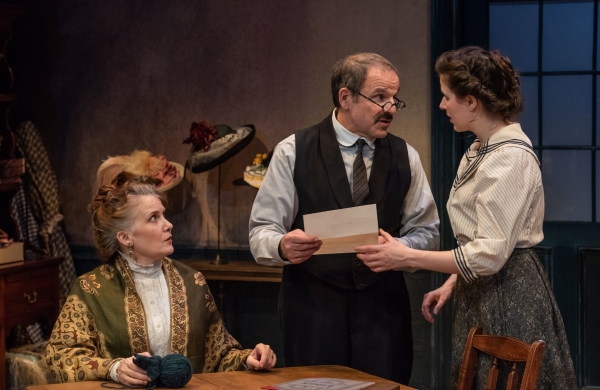 THE PRICE OF THOMAS SCOTT by ELIZABETH BAKER Tracy Sallows, Donald Corren and Emma Geer Photo by Todd Cerveris
