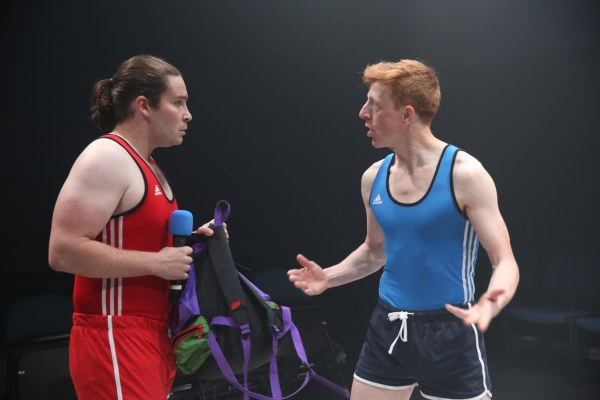 Daniel Portman and Gavin Jon Wright in SQUARE GO part of Brits Off Broadway at 59E59 Theaters. Photo by Carol Rosegg