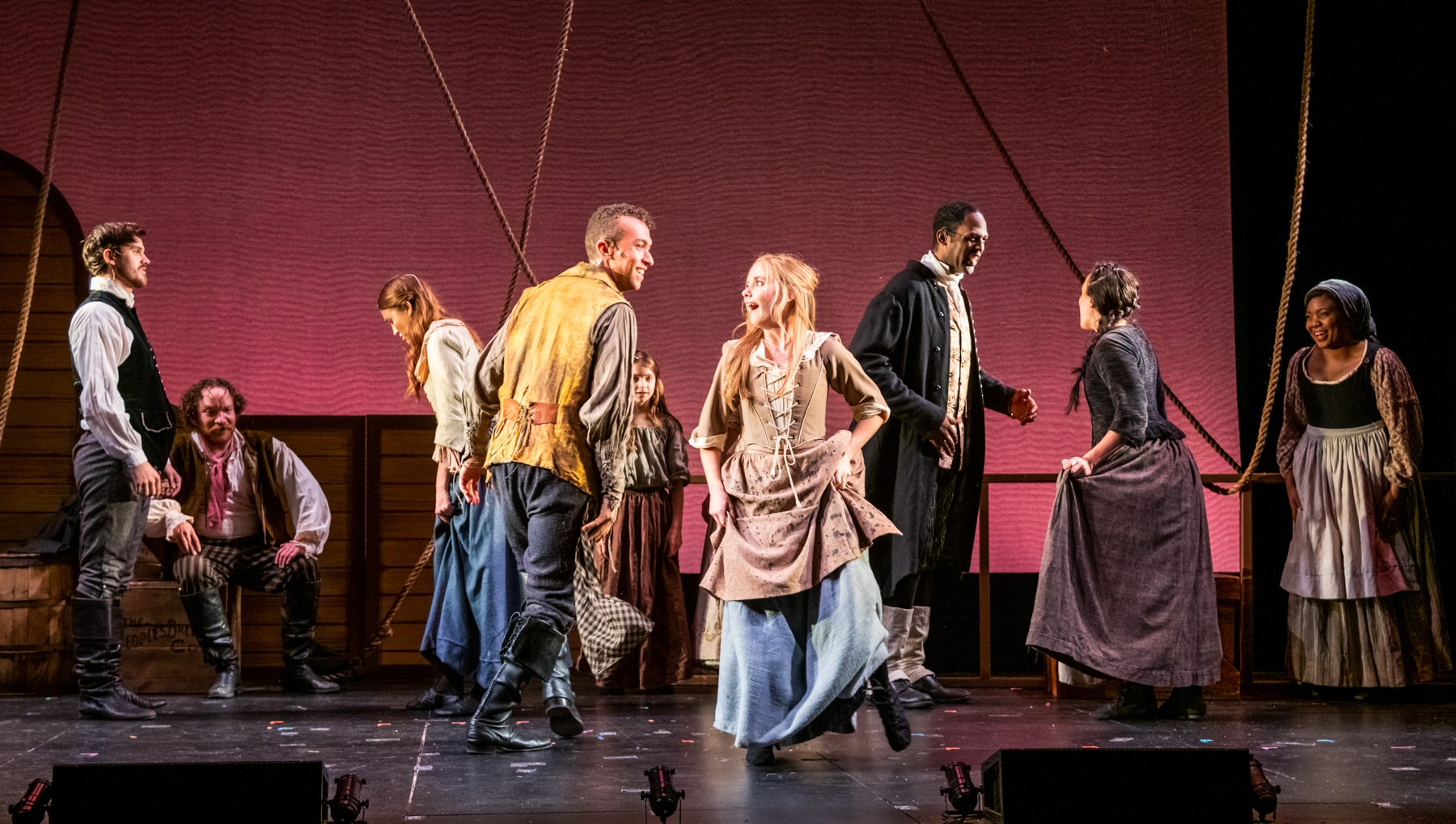 Ensemble Cast of LadyShip photo by Russ Rowland