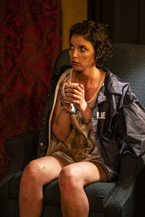 Patricia Lynn as Molly in Hunger & Thirst Theatre's Strangers in the Night_photo by Al Foote III
