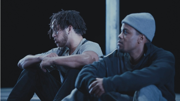 """Julian Parker, left, and Jon Michael Hill in """"Pass Over,"""" directed by Spike Lee_Credit_Chayse Irvin:Amazon Studios"""